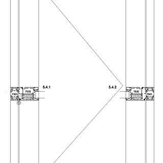 1-flügelige nach außen öffnende Tür mit VA-Kantteil-Schwelle und autom. Bodendichtung