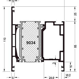 Türprofil 9034 ( 110 mm )