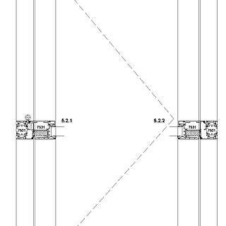 1-flügelige nach innen öffnende Tür mit VA-Kantteil-Schwelle und autom. Bodendichtung