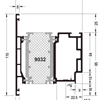 Türflügel 9032 ( 110 mm )
