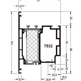 Türflügel 7532 ( 110 mm )