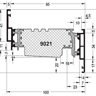Fensterflügel 9021 ( 81 mm )