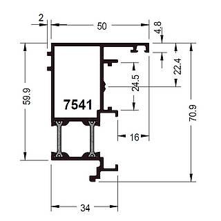 Wechselprofil 7541 ( 50 mm )