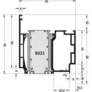 Türprofil 9033 ( 94 mm )