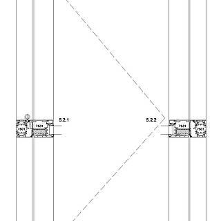1-flügelige nach innen öffnende Tür mit durchgehender Schwelle