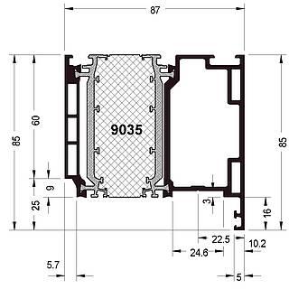 Türprofil 9035 ( 85 mm )