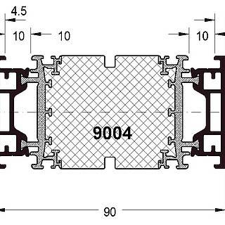 Rahmen 9004 ( 44 mm )