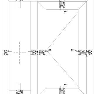 1-flügelige nach außen öffnende Tür mit Wechselprofil 7541 und Rahmen 7511 unten im Seitenteil,Schwelle falzverschraubt