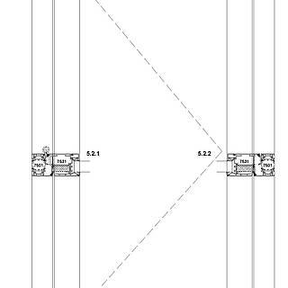 1-flügelige nach innen öffnende Tür mit VA-Kantteil-Schwelle und autom. Bodendichtung, Sockel 7534
