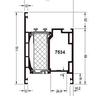 Türprofil 7534 ( 110 mm )