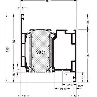 Türflügel 9031 ( 110 mm )