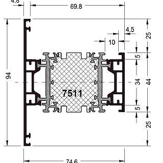 Pfosten 7511 ( 94 mm )