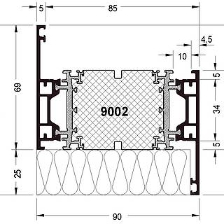 Rahmen 9002 ( 94 mm )