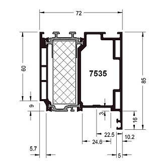 Türprofil 7535 ( 85 mm )