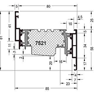 Fensterflügel 7521 ( 81 mm )