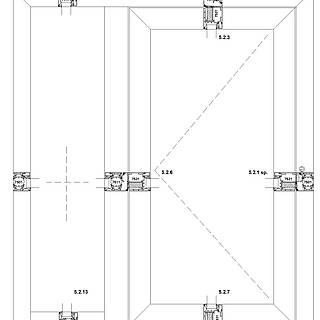 1-flügelige nach innen öffnende Tür mit Rahmen 7501 unten im Seitenteil, durchgehende Schwelle