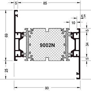 Rahmen 9002 N (94 mm )